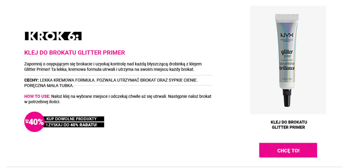 NYX GLITTER PRIMER KLEJ DO BROKATU