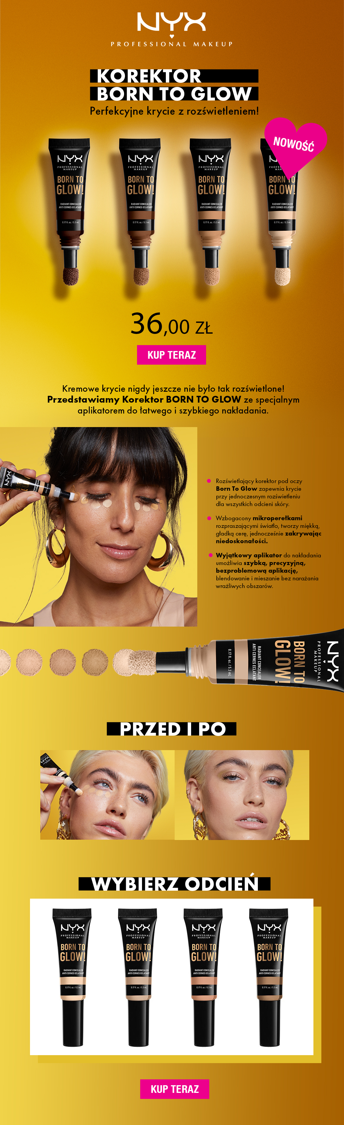 NYX PROFESSIONAL MAKEUP BORN TO GLOW KOREKTOR