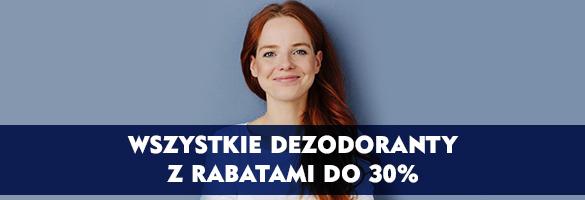 WSZYSTKIE DEZODORANTY Z RABATAMI DO 30%!