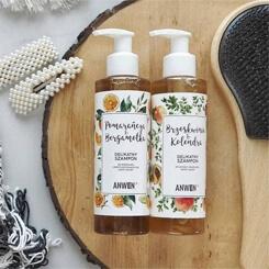 Anwen Brzoskwinia & Kolendra delikatny szampon do suchej i wrażliwej skóry głowy Anwen Brzoskwinia & Kolendra delikatny szampon do suchej i wrażliwej skóry głowy