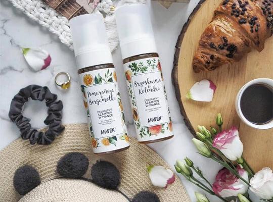 Anwen Brzoskwinia & Kolendra delikatny szampon do suchej i wrażliwej skóry głowy