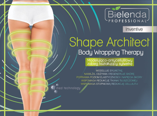 bielenda professional shape inventive architect body wrapping therapy bandaże modelujące do ciała