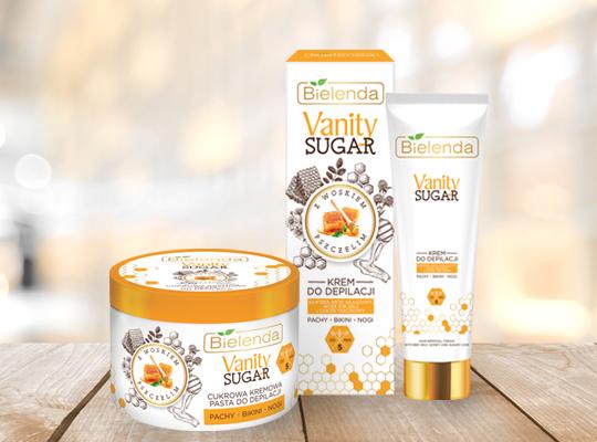 Bielenda Vanity Sugar krem do depilacji z woskiem pszczelim