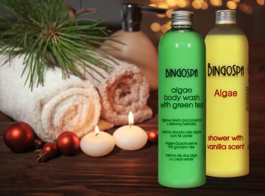 BingoSpa kremy pod prysznic algi wanilia zielona herbata