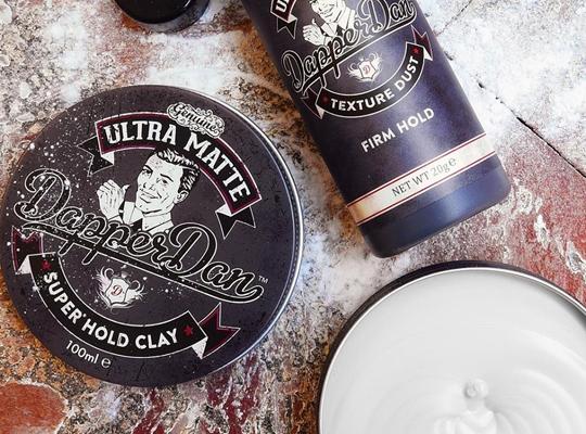 Dapper Dan Ulltra Matte Super Hold Clay glinka do stylizacji włosów