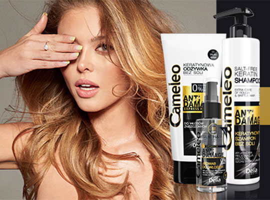 Delia Cameleo Anti Damage Silk Hair With Argan Oil