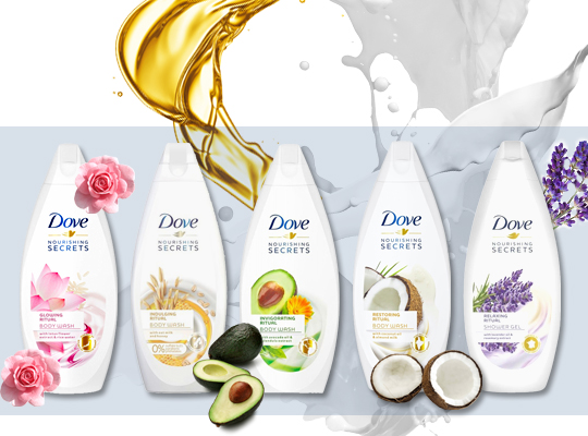 dove nourishing secrets shower gel