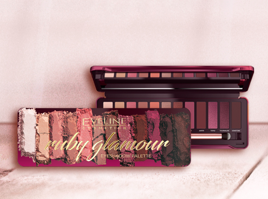 Eveline Ruby Glamour Eyeshadow Palette