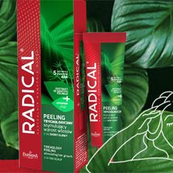 peeling trychologiczny stymulujący wzrost włosów do skóry głowy   Farmona Radical