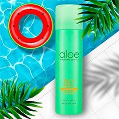 Holika Holika Aloe Soothing Essence nawilżająco-chłodzący, przeciwsłoneczny spray do twarzy i ciała