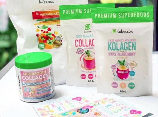 intenson superfoods collagen beauty elixir koktajl sloik