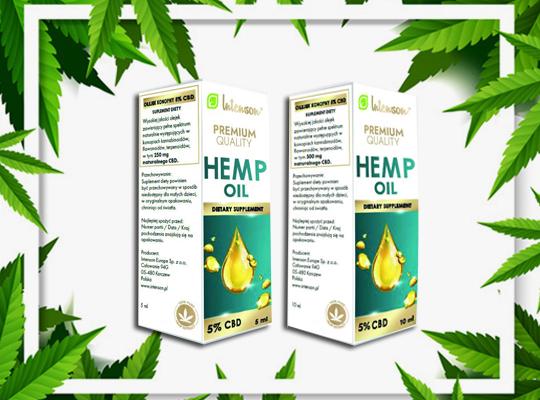 intenson med suplement diety premium quality cbd hemp konopia olejek ekstrakt
