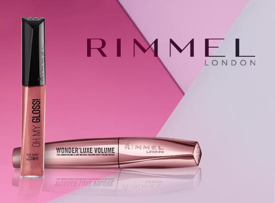 rimmel london feel the luxe zestaw oh my gloss lip gloss błyszczyk do ust wonderluxe volume black mascara tusz do rzęs