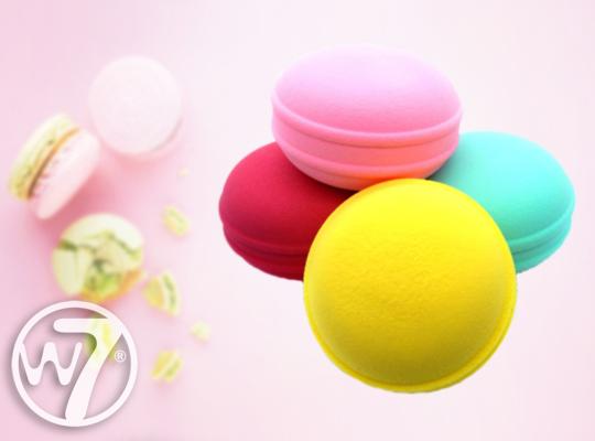 w7 cookie puffs face blending sponge gąbka do makijażu macarons makaroniki