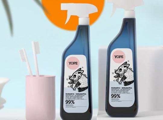 Yope rozmaryn bergamotka antybakteryjny plyn do czyszczenia i dezynfekcji uniwersalny